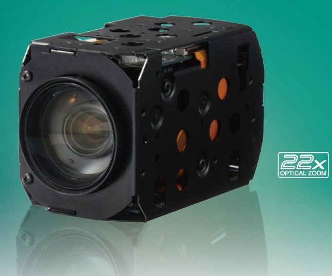 Through Fog and Automatic Tracking Full HD High Sensitivity Color Camera Module with 22x Optical Zoom Panasonic GP-MH322