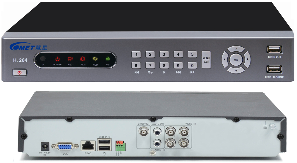4 Channel H264 Real Time Monitoring At The Same Time Playback