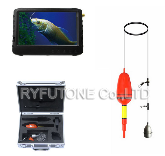 Wireless Underwater Fish Finder Mini Camera + 5inch 1.2GHz DVR Screen Monitor