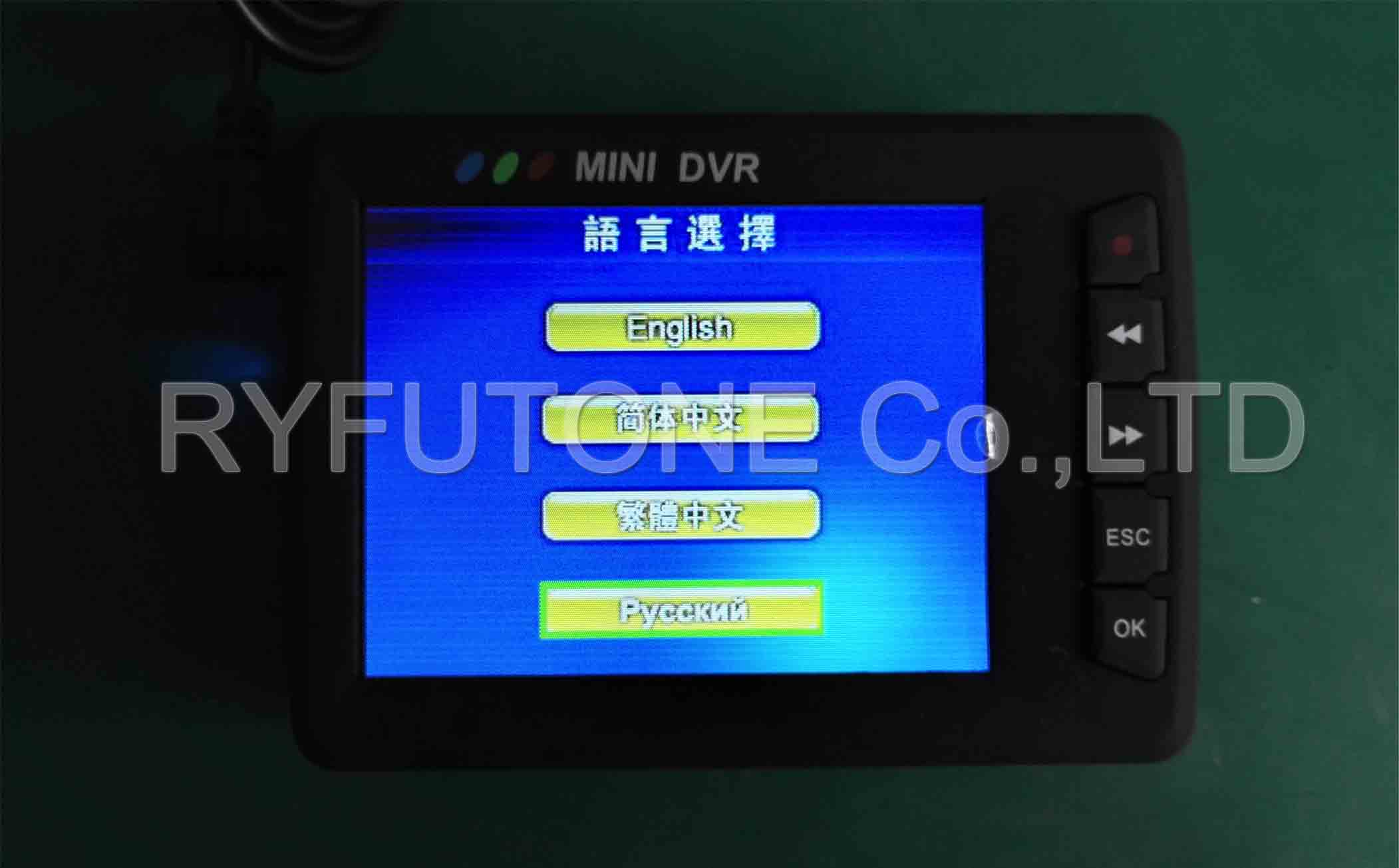 2.5 inch TFT LCD screen portable mini HD DVR recorder police body camera with remote control