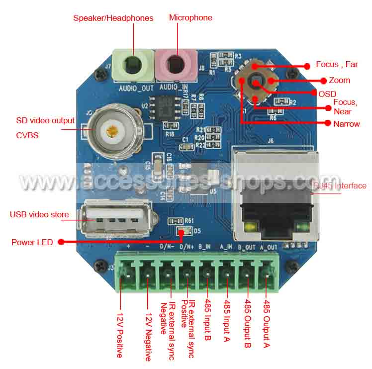 HD CCTV Camera Board SONY Camera Module Network IP Control Board For SONY FCB-EV7500 FCB-EV7300 FCB-EH6300